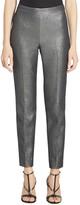 St. John Metallic Tweed Cropped Pants