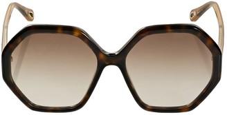 Chloé Esther Geometrical Acetate Sunglasses