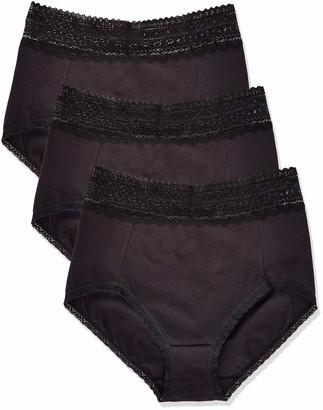 Iris & Lilly Amazon Brand Women's Cotton High Waisted Knicker Pack of 3
