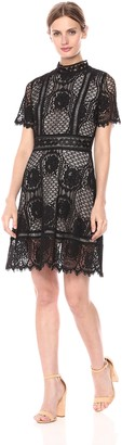 BB Dakota Women's Aria Short Sleeve Lace Dress