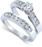 Macy's Diamond Engagement Ring Bridal Set in 14k White Gold (9/10 ct. t.w.)
