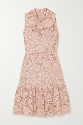 RED Valentino Ruffled Lace Mini Dress - Blush