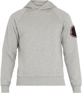 Moncler Badge-appliqué hooded cotton sweatshirt