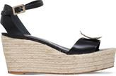 Roger Vivier Corda leather wedge sandals