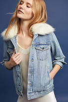 Heartloom Faux Fur-Trimmed Denim Jacket
