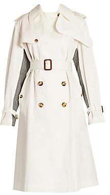 Alexander McQueen Women's Hybrid Prince Of Wales Trench Coat