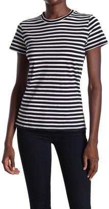 Vince Essential Stripe Pima Cotton T-Shirt