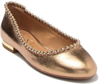 Jessica Simpson Gillian Leather Studded Flat