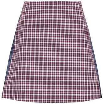Burberry Checked cotton-blend miniskirt