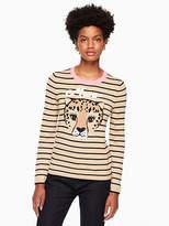 Kate Spade Leopard stripe sweater