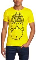 Logoshirt T-Shirt Slim Fit The Simpsons - Homer Brain my Damage, Yellow, XXL