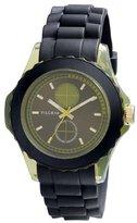 Pilgrim Women's Quartz Watch sort rem/ grøn skive 701332402 with Rubber Strap