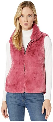 Dylan by True Grit Ultra Lux and Plush Shearling Faux Fur Vest (True Pink) Women's Clothing