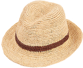 Christys' Straw Bude Trilby Hat, Natural