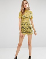 Missguided Lace High Neck Romper