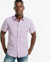 Express short sleeve plaid shirt