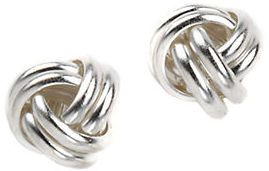 Lord & Taylor Sterling Silver Braided Knot Earrings