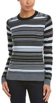 Obermeyer Fiona Stripe Merino-blend Knit Crew Sweater.