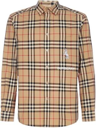Burberry Classic Fit Check Print Shirt