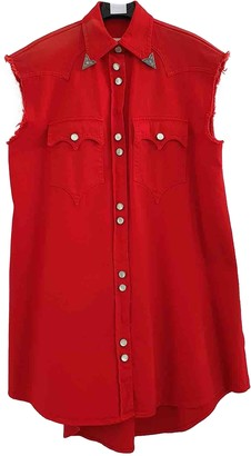 Maison Margiela Red Cotton Jacket for Women
