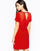 Lavand Short Sleeve Shift Dress With Keyhole Back