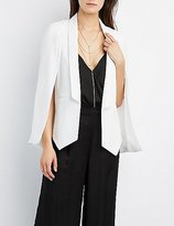 Charlotte Russe Structured Cape Blazer