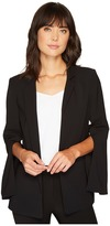 Vince Camuto Texture Base Split Sleeve Blazer Women's Jacket