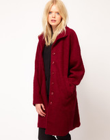 Just Female Wool Funnel Coat