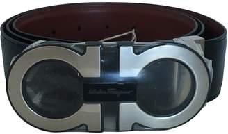 Salvatore Ferragamo Grey Leather Belts
