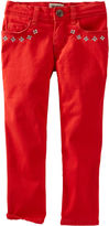 Osh Kosh Oshkosh Embroidered Skinny Pants - Preschool Girls 4-6x