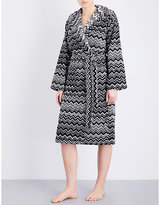 Missoni Home Chevron-patterned cotton-towelling robe