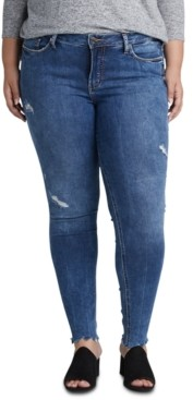 Silver Jeans Co. Trendy Plus Size Elyse Ripped Skinny Jeans