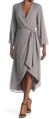 Ramy Brook Julie Long Sleeve Midi Wrap Dress