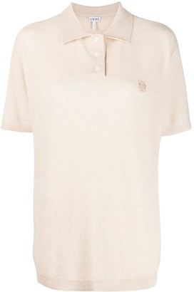 Loewe Embroidered Logo Knitted Polo Shirt
