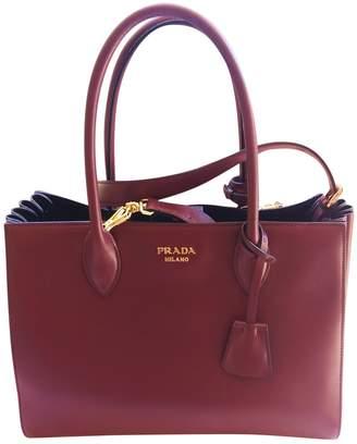 Prada Bibliotheque Burgundy Leather Handbags