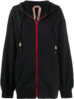 No.21 oversized Nude Beach hooded jacket