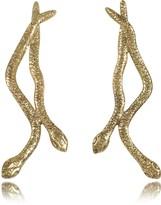 Bernard Delettrez Snakes Bronze Earrings