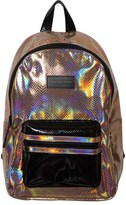 Little Marc Jacobs Bronze Metallic Branded Backpack