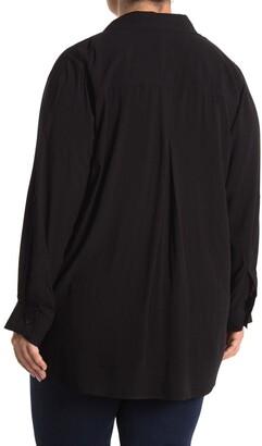 Velvet Heart Elisa Roll Tab Sleeve Button Down Blouse