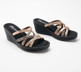 Skechers Multi-Strap Wedge Sandals - Rumbler Wave New Lassie