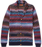 Missoni Shawl-Collar Cotton and Wool-Blend Cardigan