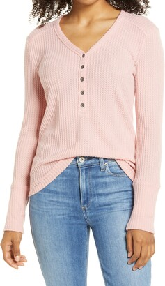 Caslon High Cuff Henley Top