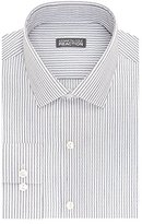 Kenneth Cole Reaction Men's Slim Fit Stripe Spread Collar Dress Shirt