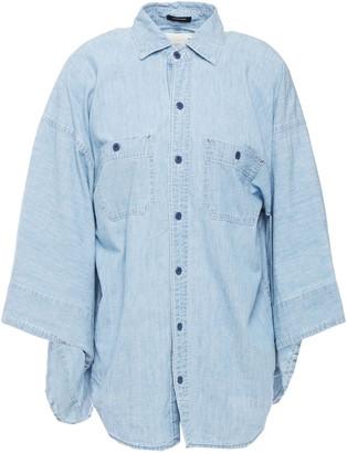 R 13 Gathered Cotton-chambray Shirt