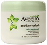 Aveeno Positively Radiant Daily Cleansing Pads,(Pack of 3)