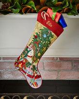 Sferra Christmas Toys Needlepoint Stocking