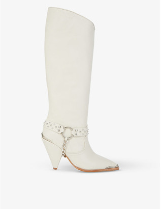 The Kooples Chain-embellished leather boots