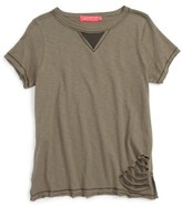 Menu Girl's Mesh Inset Destructed Tee