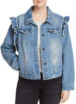 Bagatelle Plus Ruffled Denim Jacket