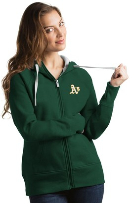 Antigua Women's Oakland Athletics Victory Full-Zip Hoodie